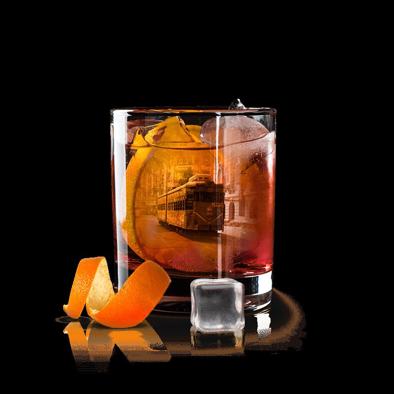 kolkata inspired cocktail with oaksmith gold premium whiskey