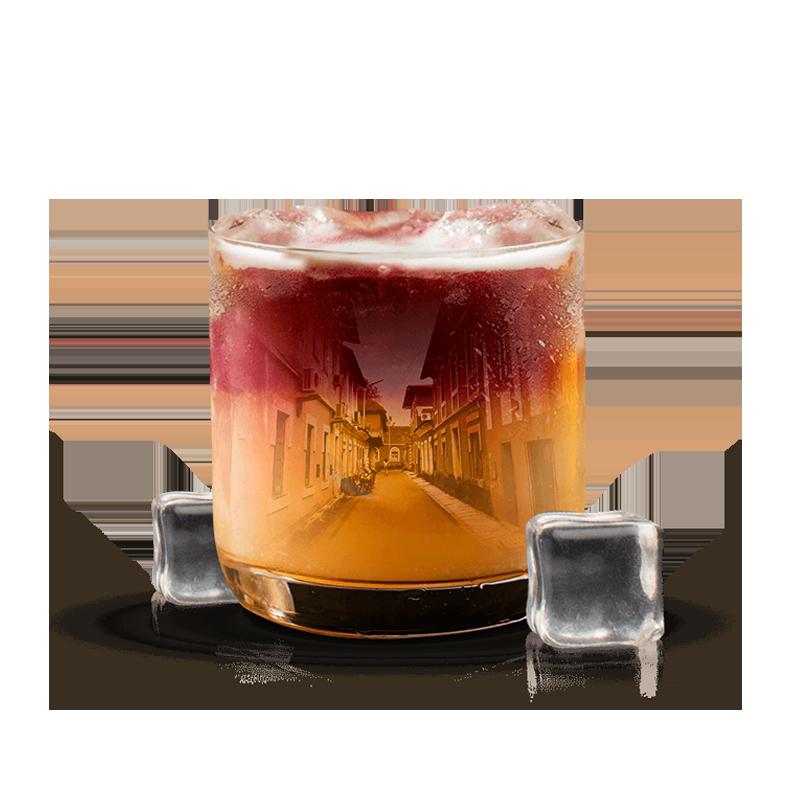 goa inspired cocktail with oaksmith international premium whiskey